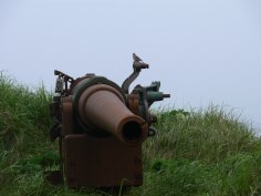 WWII Artillery, Kiska Island