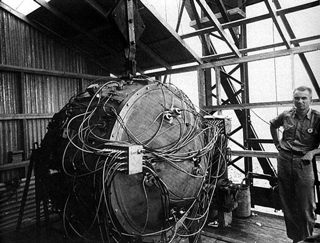 photos from the trinity nuclear test 1945